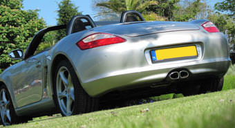 Porsche Boxster S achterkant
